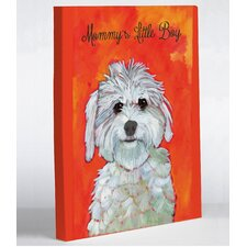 Doggy Decor Mommy's Little Boy Graphic Art on Canvas