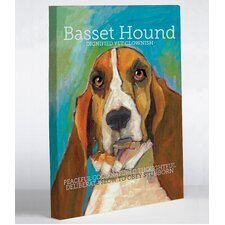 Doggy Decor Basset Hound Graphic Art on Canvas