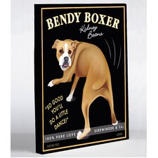 <strong>OneBellaCasa.com</strong> Bendy Boxer Canvas Wall Decor