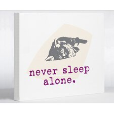 Doggy Decor Never Sleep Alone Cat Graphic Art on Canvas
