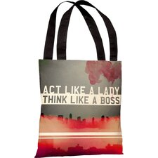 Oliver Gal Act Like a Lady Polyester Tote Bag