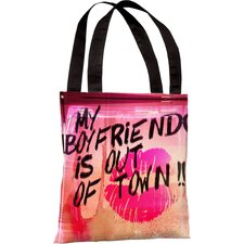 Oliver Gal My Boyfriend Is out of Town Polyester Tote Bag