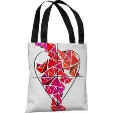<strong>OneBellaCasa.com</strong> Oliver Gal Piece of My Heart Tote Bag