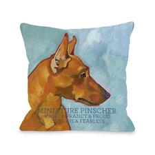 Doggy Décor Miniature Pinscher 2 Pillow