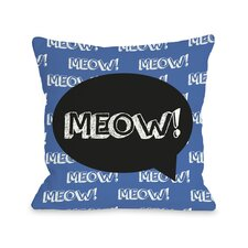 Doggy Décor Meow Talk Bubble Pillow