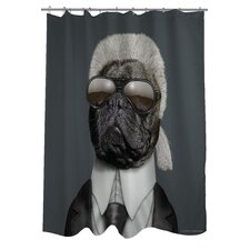 <strong>OneBellaCasa.com</strong> Pets Rock Fashion Polyester Shower Curtain