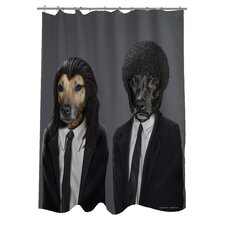 Pets Rock Hit Dogs Polyester Shower Curtain