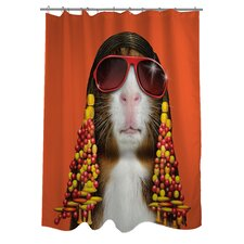 Pets Rock Funk Polyester Shower Curtain