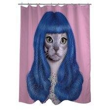 <strong>OneBellaCasa.com</strong> Pets Rock Gurl Polyester Shower Curtain