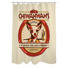Doggy Decor Senor Chiwahwah Polyester Shower Curtain