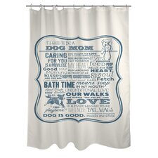 <strong>OneBellaCasa.com</strong> Doggy Decor Dog Mom Polyester Shower Curtain