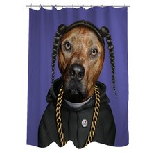 <strong>OneBellaCasa.com</strong> Pets Rock Rap Polyester Shower Curtain