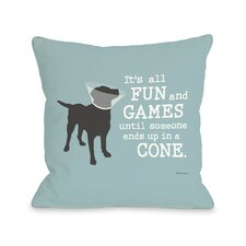 Doggy Décor Its All Fun and Games Pillow