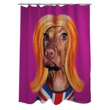 Pets Rock Redhead Polyester Shower Curtain