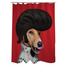 Pets Rock Rock n' Roll Polyester Shower Curtain