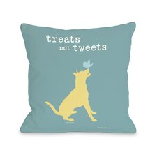 Doggy Décor Treats Not Tweets Pillow