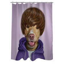 <strong>OneBellaCasa.com</strong> Pets Rock Teen Polyester Shower Curtain