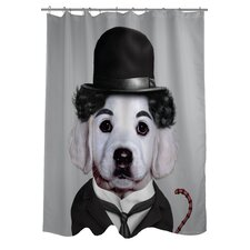 <strong>OneBellaCasa.com</strong> Pets Rock Tramp Polyester Shower Curtain