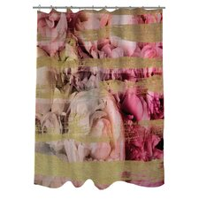 Oliver Gal Field of Roses Polyester Shower Curtain