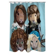 <strong>OneBellaCasa.com</strong> Pets Rock Waterloo Polyester Shower Curtain