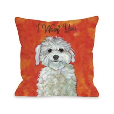 Doggy Décor I Woof You Pillow