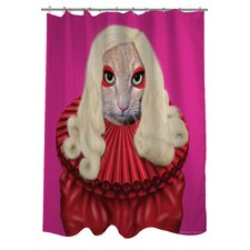 Pets Rock Poker Polyester Shower Curtain