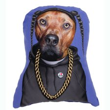 <strong>OneBellaCasa.com</strong> Pets Rock Rap Shaped Pillow