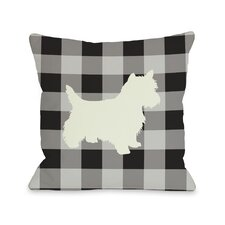 Doggy Décor Gingham Silhouette Westie Pillow
