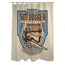 <strong>OneBellaCasa.com</strong> Doggy Decor Hot Dogger Polyester Shower Curtain