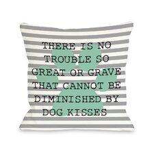 Doggy Décor No Trouble Dog Kisses Stripe Paw Pillow