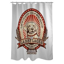 Doggy Decor Labby Polyester Shower Curtain