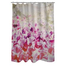 Oliver Gal Gold Spring Polyester Shower Curtain