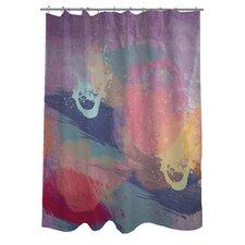 Oliver Gal Lavender Mist Polyester Shower Curtain