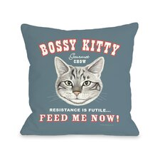 Doggy Décor Bossy Kitty Pillow