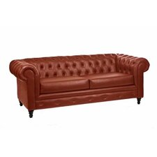 <strong>Loni M Designs</strong> Leather Tufted Sofa
