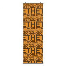 Slat Change the World Wall Hanging