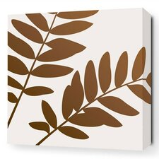 Rhythm Leaf Stretched Graphic Art on Canvas
