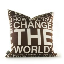 <strong>Inhabit</strong> Graphic Pillows Change the World Synthetic Pillow