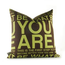 <strong>Inhabit</strong> Graphic Pillows You Are Synthetic Pillow