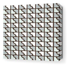 <strong>Inhabit</strong> Estrella Faux Houndstooth Stretched Wall Art in Cornflower