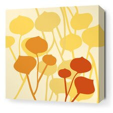 Aequorea Seedling Graphic Art on Canvas in Pale Yellow