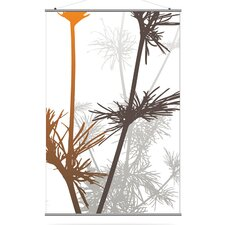 Morning Glory Prairie Slat in Rust and Charcoal