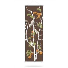 Ailanthus Slat Hanging Panel in Chocolate