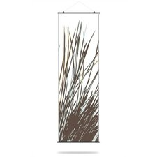 Thatch Slat Hanging Panel in Aqua