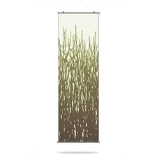 Field Grass Slat Hanging Panel in Moss