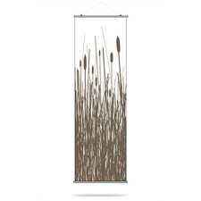 Cattails Slat Hanging Panel in Chocolate