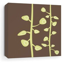 Bud Stretched Wall Art in Chocolate