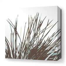 Thatch Stretched Wall Art in Aqua