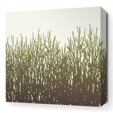 Field Grass Stretched Wall Art in Moss
