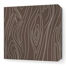 <strong>Inhabit</strong> Madera Stretched Wall Art in Chocolate